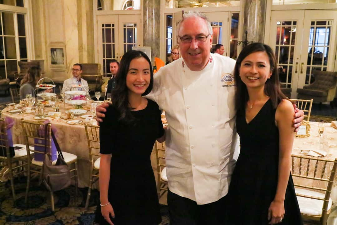 Chef Darren McGrady at Fairmont Royal Champagne Afternoon Tea Calgary
