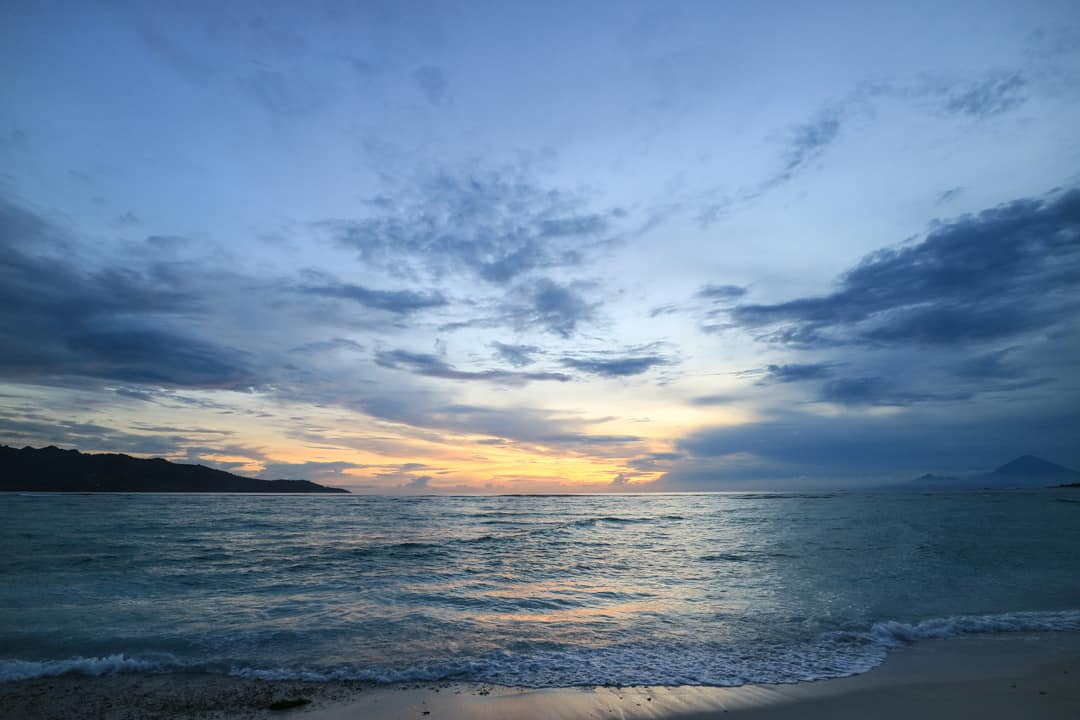 Sunset at Gili Air Lombok Indonesia