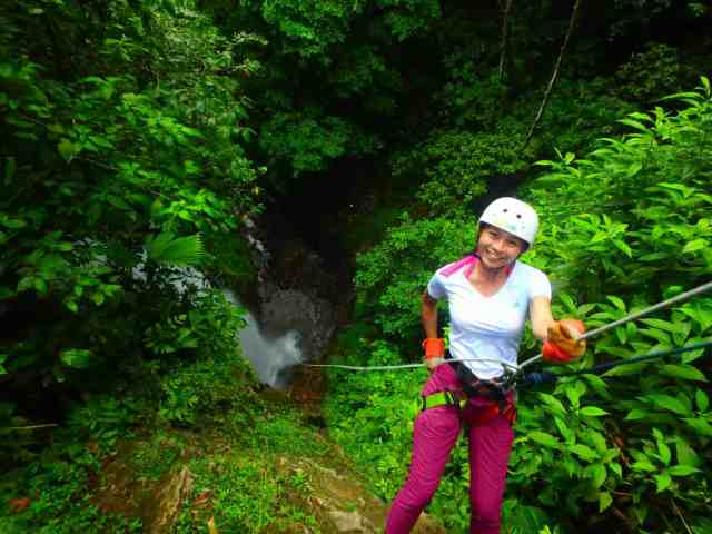 Unforgettable things to do in Costa Rica in November waterfall rappelling