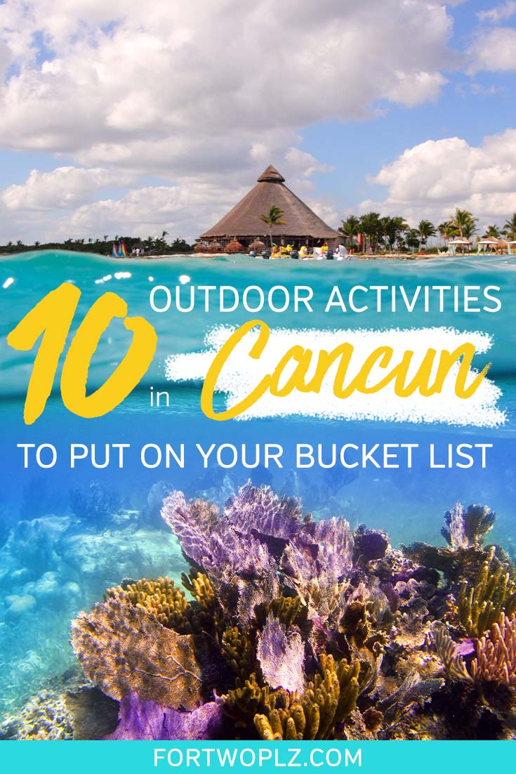 Cancun, Mexico is not just for spring-breakers. Its golden beaches and perfect climate makes it the best beach destination in Mexico for luxury travellers and adventurers. Here are the top Cancun attractions should not be missed, including Chichen Itza, Tulum Ruins, Cenote, Isla Mujeres, Sian Ka'an, Underwater Museum in Cozumel and more! Click to discover the 10 outdoor activities to put on your bucket list. #mexicotravel #thingstodoinmexico #cancun
