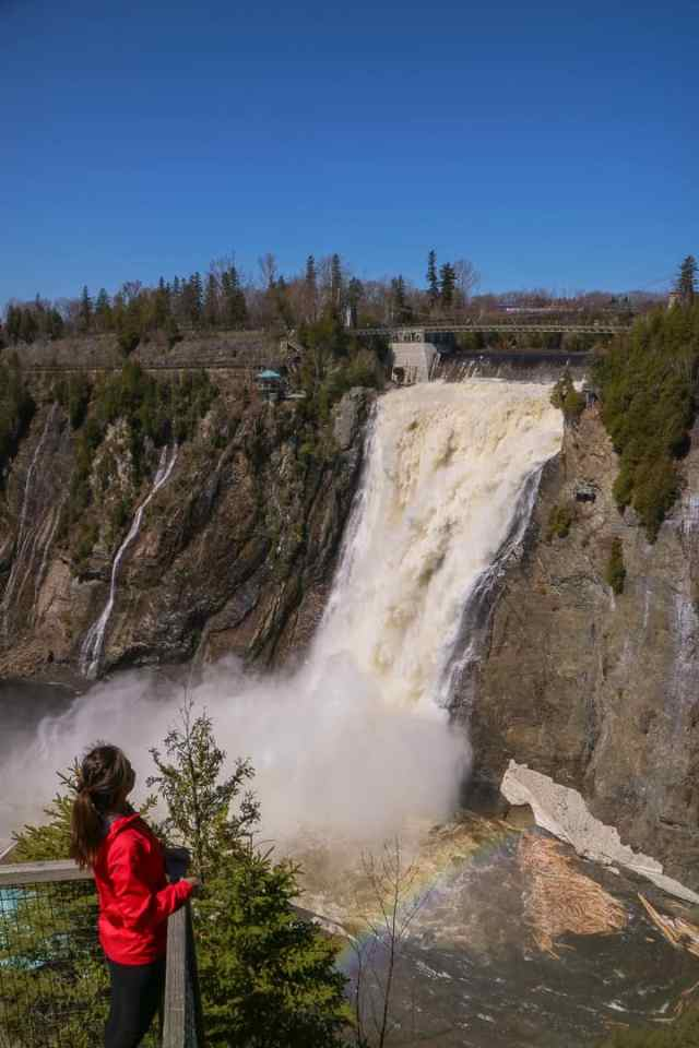Bike Tour Montmorency Falls Quebec Canada
