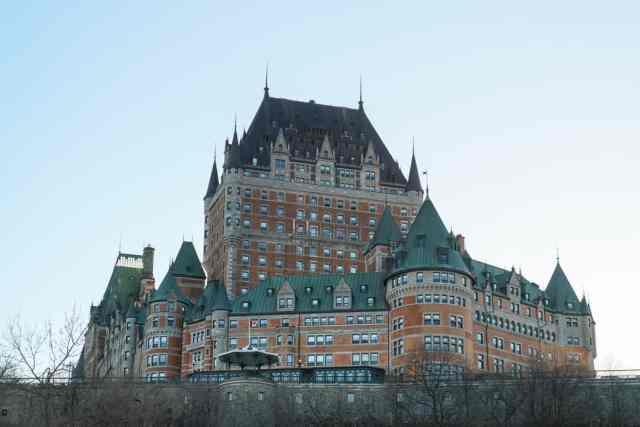 Fairmont le chateau frontenac Quebec City Canada