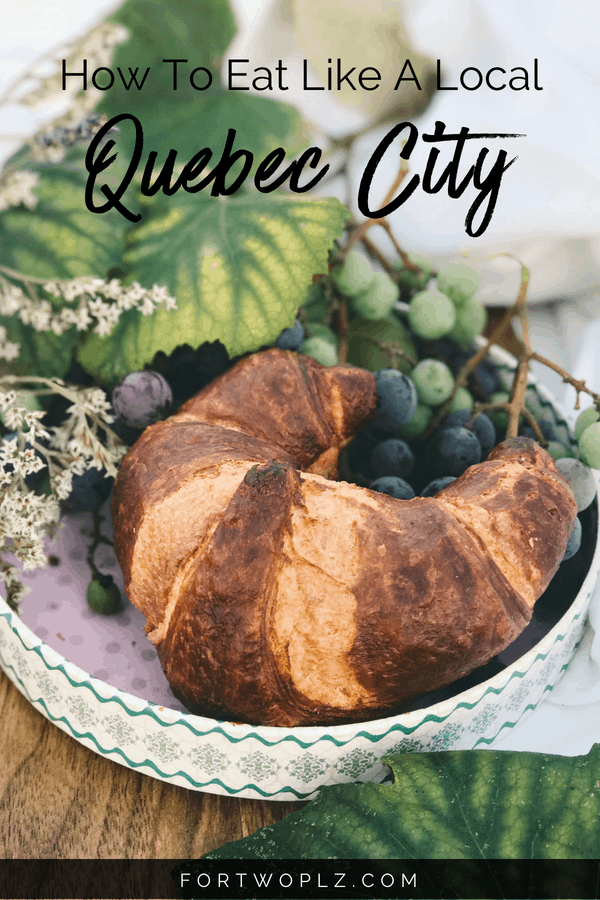 Quebec City is one of the top destinations for food lovers! Want to plan your own Quebec City food tour? This travel guide highlights traditional food to try and the best places to eat in Quebec City. Click through to read more on For Two, Please now! #quebeccity #quebec#travealcanada#travelguide#tripplanning#traveltips#itinerary#thingstodo#foodtour #foodie #foodies