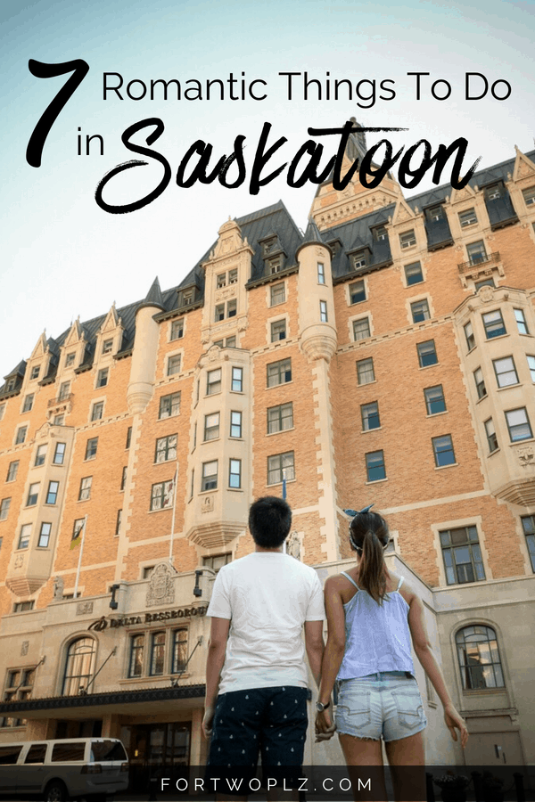 Saskatoon, Canada is a fun summer destination for a romantic getaway! There are so many unique and romantic things to do for couples. Click through to find out all the date ideas you can do at this Canadian destination to make you fall in love all over again. #saskatoon #saskatchewan #Canada #newlyweds #couplestravel #honeymoon #honeymoontravel #romanticgetaway #travelcanada #travelguide #tripplanning #traveltips #itinerary #thingstodo #traveldestinations #summertravels #instagramspots