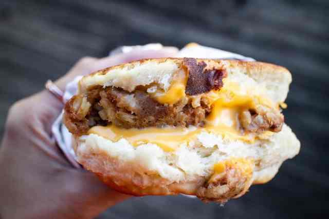 Johnson's Boucaniere Boudin Breakfast Lafayette Louisiana