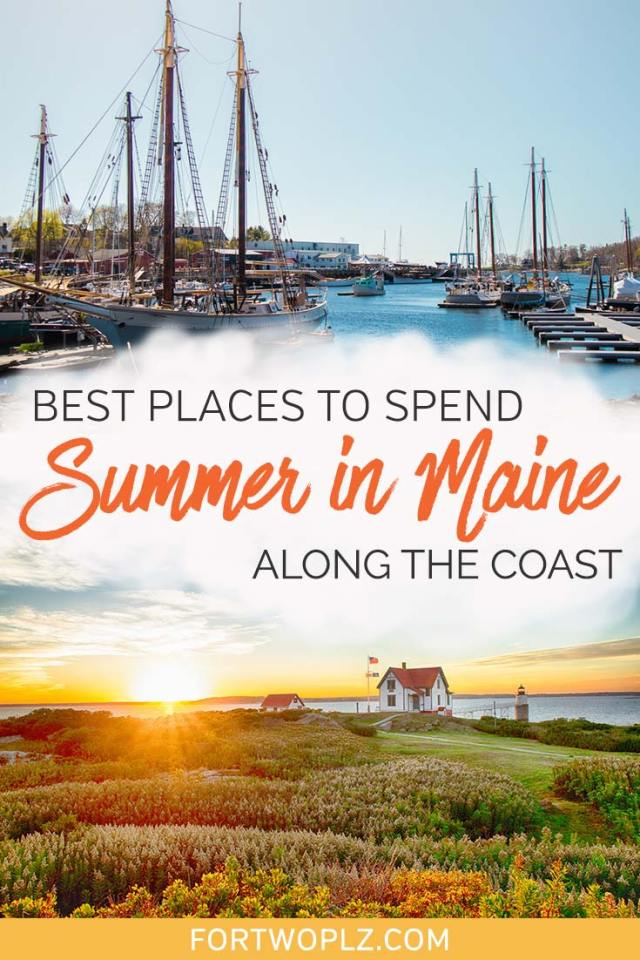 Looking for ideas for your Maine summer vacation? Go off the beaten path and road trip along the Maine coast! Check out some of the prettiest coastal towns in between Portland Maine and Bar Harbor that guarantee a good time. #roadtrip #newengland #usatravel #summertravel