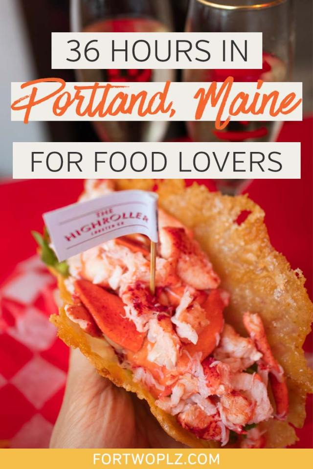 Only has 36 hours in Portland Maine? We've got you covered. This food guide is all you need to eat your way through Portland Maine, highlighting all the best places to eat and drink in the city. #newengland #usatravel #summertravel #foodguide