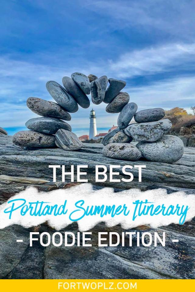 Spending your summer vacation in Portland Maine? The city is a foodie's heaven filled with so many seafood restaurants and craft breweries. Follow this itinerary to find thebestrestaurants,placestoeat, bars todrinkat, and things to do inPortland Maine! #newengland #usatravel #summertravel #foodguide