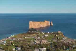 montreal gaspe road trip - perce rock bonaventure island