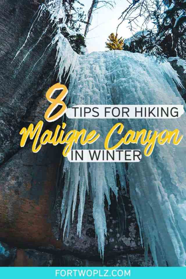 maligne canyon winter hike