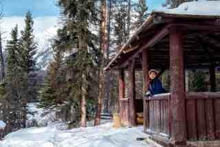 Winter in Jasper National Park Pyramid Island