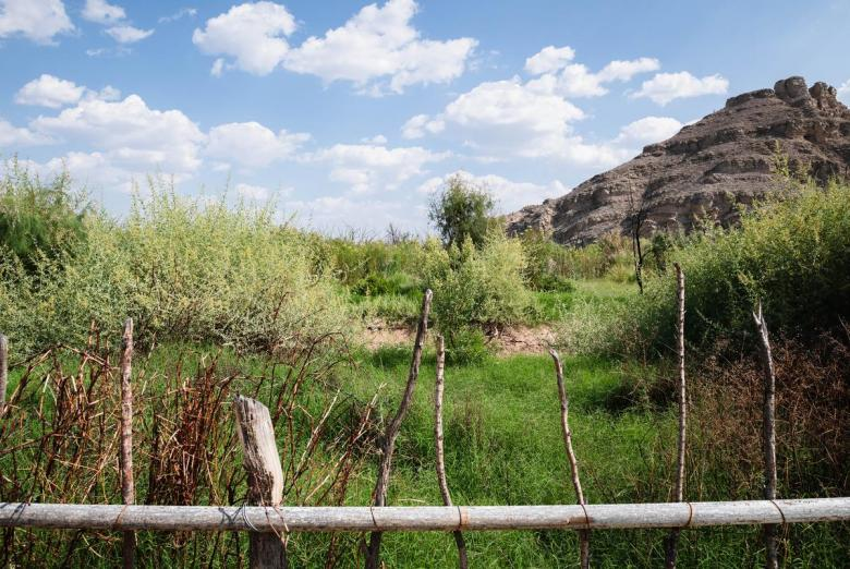 A barbed wire fence along the Rio Grande is all the separates the United States from Mexico in rural Hudspeth County on April 5, 2021.