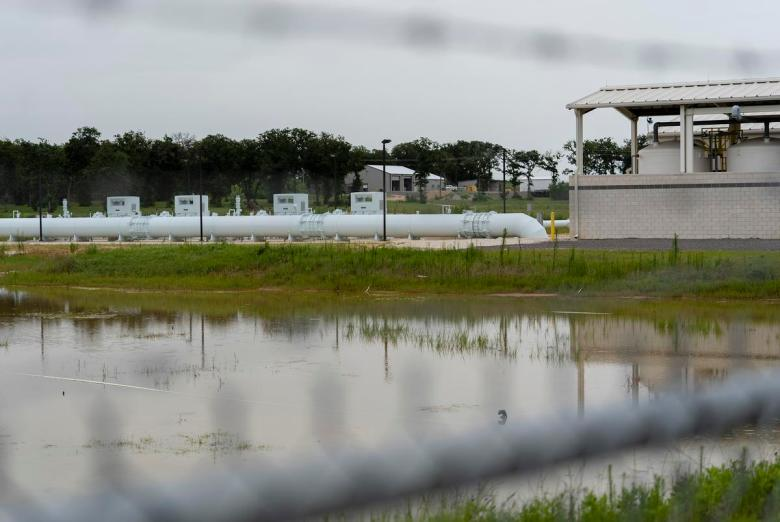 The Vista Ridge site in Burleson County on July 12, 2021.