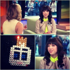 Singer Carly Rae Jepson wearing VonRay Accessories