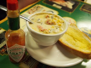 A photo of Crawfish Corn Chowder from The Real Pickle