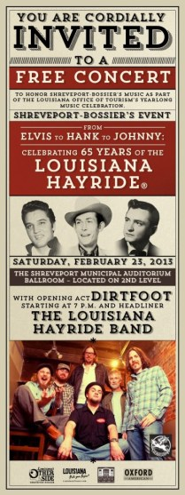 A poster for the Louisiana Soundtrack Experience