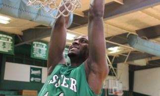 Rashard Owens catches a slam dunk