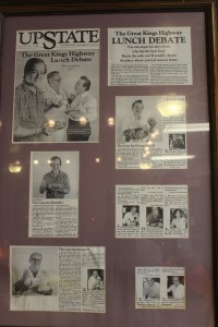 A framed article about Murrell's hangs in the restaurant's Bossier City location