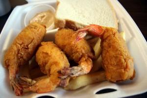 Stuffed shrimp from Eddie's Restaurant in Shreveport