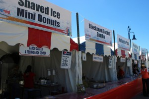 A photo of a food booth at the Red River Revel
