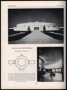 An image of the Louisiana State Exhibit Building from 1938