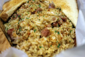 A photo of fried rice