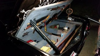 A trunk full of monster-hunting weapons