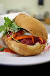 A photo of bánh mi