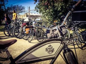 A photo of bikes