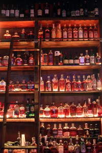 A photo of a lot of whiskey