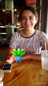 Me posing with an Oddish