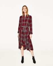 Zara check midi dress £39.99