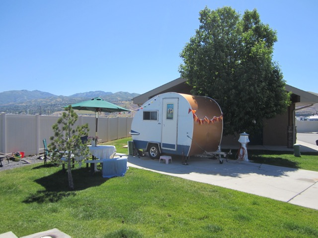 A postage stamp trailer