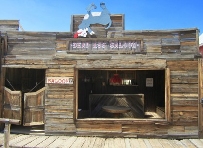 Part of the stage for the high noon shootouts