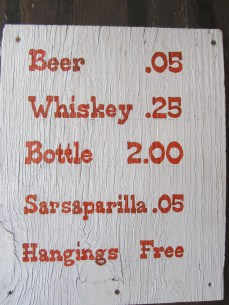 Where the bottles are expensive and the hangings are free.