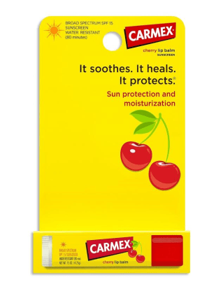 Carmex Moisturizing Lip Balm Stick SPF 15 Cherry