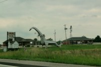 We passed this giant metal dragon in Vandalia, Illinois. I found out after we passed it that if you insert a token, it will breathe fire!