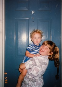 Here is London with Matt in 1993 shortly before we moved out to move to South Carolina.