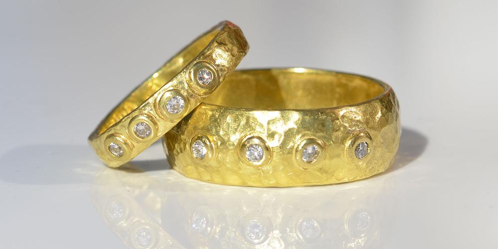 Row of diamonds