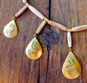 Caribou Amulets of 20K Gold
