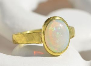 Opal is for October ring