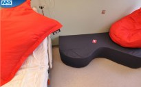 Labour Delivery Recovery Postnatal (LDRP) room with birthing couch, Gloucester Women's Centre.
