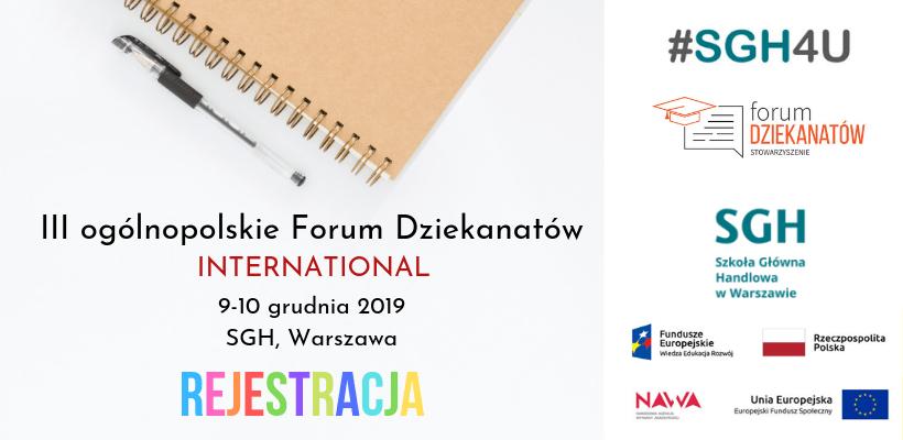 Zakończona rejestracja: III ogólnopolskie Forum Dziekanatów – International