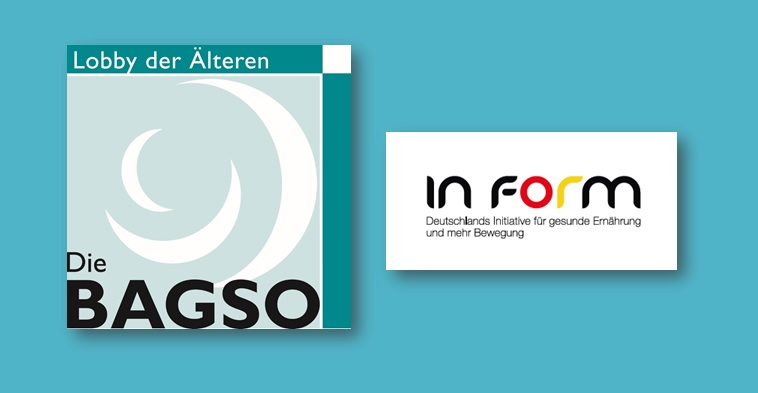 Collage BAGSO und IN FORM Cover