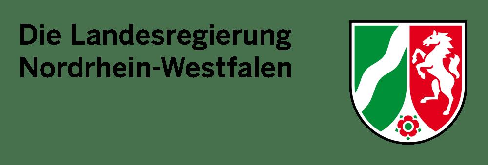 Das Logo Landesregierung Nordrhein-Westfalen NRW