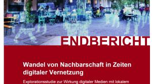 Cover - Wandel von Nachbarschaft in Zeiten digitaler Vernetzung - Endbericht