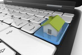 Haus auf Tastatur