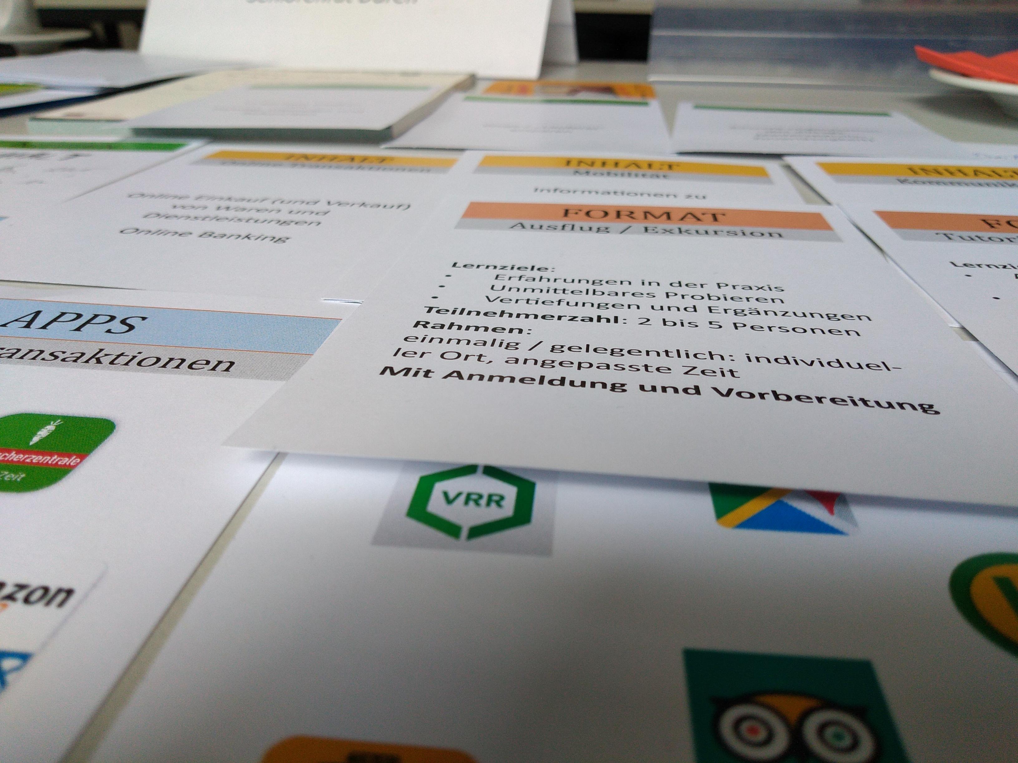 Unterlagen aus dem Workshop