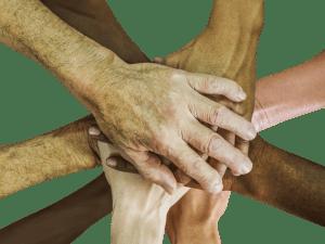Hände verschiedener Menschen