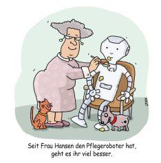 """1. Preis Smarte neue Welt """"Pflegeroboter"""" von Sabine Voigt"""
